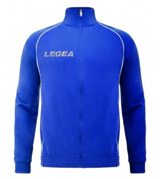 Felpa Uomo LEGEA Florida Light Zip Abbigliamento Uomo Bambino Sportivo Sport GIOSAL-Azzurro-Bianco-5XS