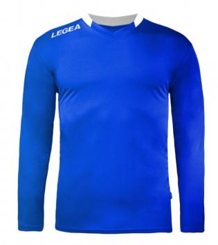 Maglia Uomo Sport Calcio LEGEA Monaco Manica Lunga BOX 10 PEZZI GIOSAL-Azzurro-Bianco-3XS