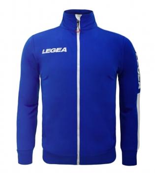 Felpa Uomo California Full Zip Abbigliamento LEGEA Sportivo Uomo Bambino GIOSAL-Azzurro-Bianco-XL