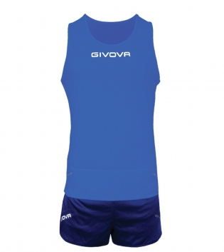 Kit New York GIVOVA Unisex Uomo Donna Athletics Running Sport Sportivo GIOSAL-Azzurro/Blu-XS