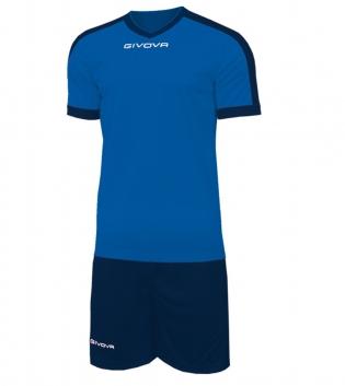 Kit Revolution Calcio Sport GIVOVA Abbigliamento Sportivo Uomo Calcistico GIOSAL-Azzurro/Blu-4XS