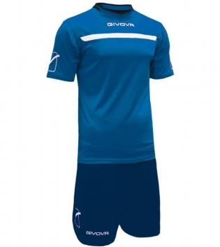 Kit One Calcio GIVOVA Uomo Sport Uomo Bambino Abbigliamento Sportivo Calcistico GIOSAL-Azzurro/Blu-4XS