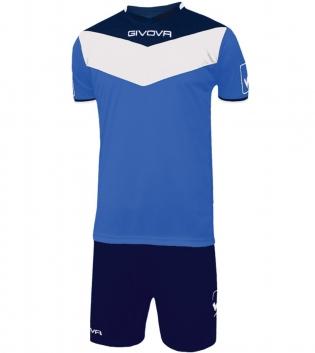 Kit Calcio GIVOVA Campo Completino Football Sport Sportivo Uomo Bambino GIOSAL-Azzurro/Blu-4XS