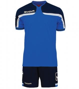 Kit Uomo Sport Calcio GIVOVA America Completino Calcetto GIOSAL-Azzurro/Blu-3XS