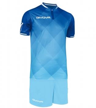 Kit Shade Calcio Sport GIVOVA Abbigliamento Sportivo Uomo Calcistico GIOSAL-Azzurro-Celeste-M