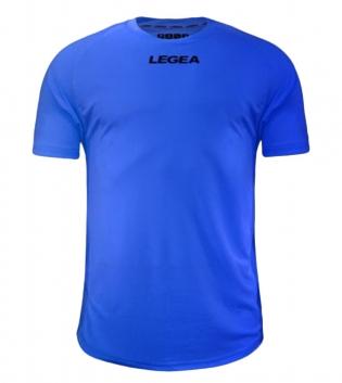 Maglia Calcio Sport LEGEA Crimea Abbigliamento Uomo Bambino Sportivo Calcistico GIOSAL-Azzurro Fluo-XS