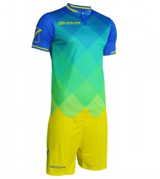 Kit Shade Calcio Sport GIVOVA Abbigliamento Sportivo Uomo Calcistico GIOSAL-Azzurro/Giallo-M