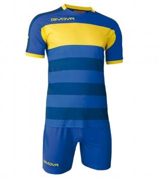 Kit Derby Calcio Sport GIVOVA Abbigliamento Sportivo Calcistico GIOSAL-Azzurro/Giallo-M