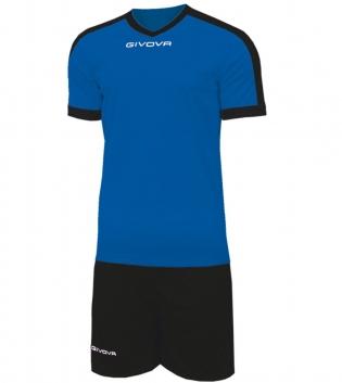 Kit Revolution Calcio Sport GIVOVA Abbigliamento Sportivo Uomo Calcistico GIOSAL-Azzurro/Nero-4XS