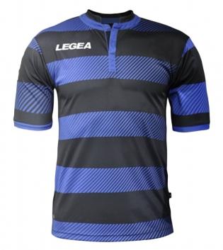 Maglia Uomo Sport LEGEA Calcio Edimburgo Abbigliamento Sportivo Uomo Bambino GIOSAL-Azzurro-Nero-S