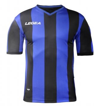 Maglia Calcio Sport LEGEA Belgrado Gold Uomo Bambino Abbigliamento Sportivo GIOSAL-Azzurro-Nero-M