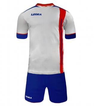 Kit Calcio Sport LEGEA Dublino Completo Calcetto Squadra GIOSAL-Azzurro-Rosso-S