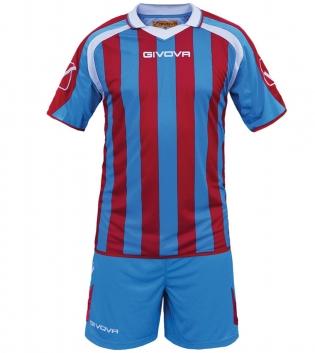 Kit Supporter Calcio Sport GIVOVA Abbigliamento Sportivo Uomo Calcistico GIOSAL-Azzurro/Rosso-M
