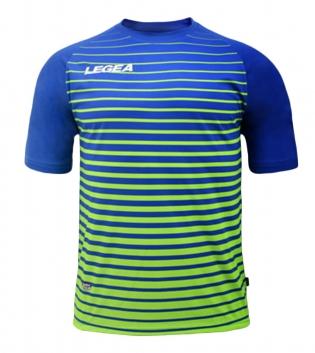 Maglia Calcio Sport LEGEA Strasburgo Abbigliamento Calcistico Sportivo GIOSAL-Azzurro-VerdeFluo-S