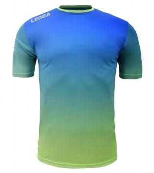 Maglia Calcio Sport LEGEA Nizza Abbigliamento Sportivo Uomo GIOSAL-Azzurro-VerdeFluo-S