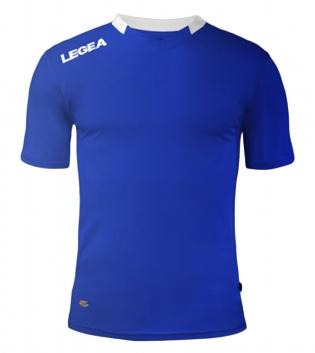 Maglia Sport Calcio LEGEA Monaco Manica Corta Tinta Unita Abbigliamento Sportivo GIOSAL-Azzurro-Bianco-XS