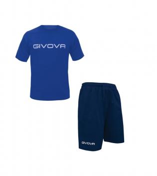 Completo Outfit Tuta GIVOVA Bermuda Friend T-Shirt Spot Azzurro Blu Uomo Donna Bambino GIOSAL