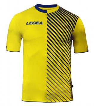 Maglia Uomo Sport LEGEA Calcio Braga Abbigliamento Sportivo Calcistico Uomo Bambino GIOSAL-Azzurro-Giallo-S