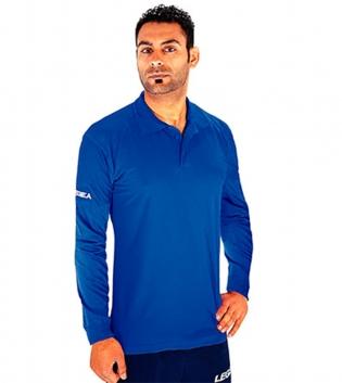 Polo Nadir Manica Lunga LEGEA Abbigliamento Sportivo Uomo Bambino GIOSAL-Azzurro-2XL