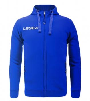 Felpa Uomo Legea Sarajevo Hood Full Zip Free Time Sport Uomo Bambino GIOSAL-Azzurro-3XS