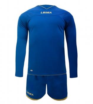 Kit LEGEA Danzica Uomo Calcio Sport Completino Sportivo Calcetto Squadra Uomo Bambino GIOSAL-Azzurro-XL