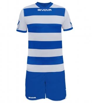 Kit Rugby Calcio Sport GIVOVA Abbigliamento Sportivo Uomo Calcistico GIOSAL-Bianco/Azzurro-M
