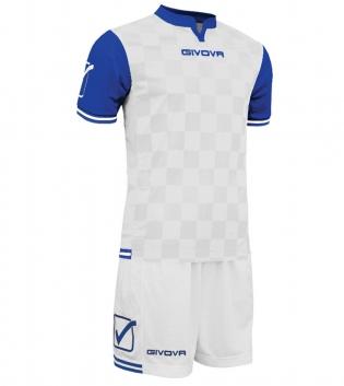 Kit Uomo Completo Sport Calcio GIVOVA Competition Sportivo Uomo GIOSAL-Bianco/Azzurro-M