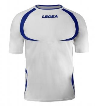 Maglia Uomo Calcio Sport LEGEA Taipei Abbigliamento Uomo Bambino Sportivo Calcistico GIOSAL-Bianco-Azzurro-3XS