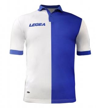 Maglia Uomo Calcio Sport LEGEA Sardegna Gold Uomo Bambino Sportivo GIOSAL-Bianco-Azzurro-S
