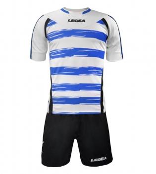 Kit Calcio LEGEA Belfast Completo Sportivo Squadra Calcetto GIOSAL-Bianco-Azzurro-S