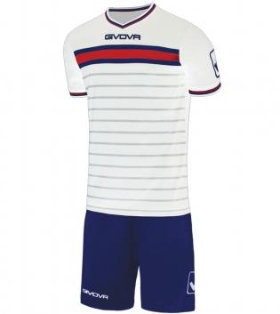 Kit Skill Calcio Sport GIVOVA Abbigliamento Sportivo Uomo Calcistico GIOSAL-Bianco/Blu-XL