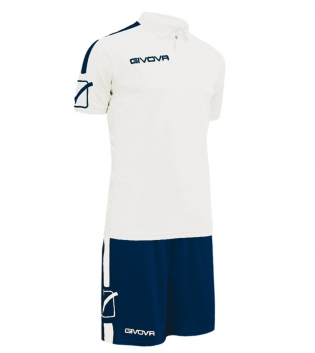 Kit Play Calcio Sport GIVOVA Abbigliamento Sportivo Uomo Calcistico GIOSAL-Bianco/Blu-M