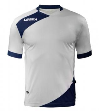 Maglia Uomo Calcio Sport LEGEA Abbigliamento Sportivo Calcistico Uomo Bambino GIOSAL-Bianco-Blu-XS
