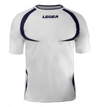 Maglia Uomo Calcio Sport LEGEA Taipei Abbigliamento Uomo Bambino Sportivo Calcistico GIOSAL-Bianco-Blu-3XS