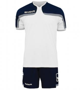 Kit Uomo Sport Calcio GIVOVA America Completino Calcetto GIOSAL-Bianco/Blu-3XS