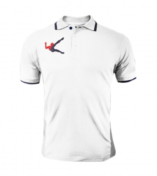 Polo Olimpia LEGEA Abbigliamento Sportivo Free Time Sport Uomo Bambino GIOSAL-Bianco-Blu-3XS
