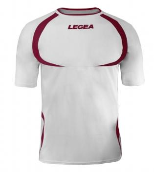 Maglia Uomo Calcio Sport LEGEA Taipei Abbigliamento Uomo Bambino Sportivo Calcistico GIOSAL-Bianco-Granata-3XS