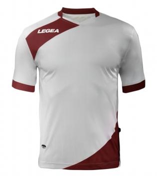 Maglia Uomo Calcio Sport LEGEA Abbigliamento Sportivo Calcistico Uomo Bambino GIOSAL-Bianco-Granata-3XS