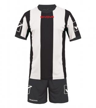 Kit Uomo Calcio Completino Sport Catalano Sportivo GIVOVA Uomo GIOSAL-Bianco/Nero-M