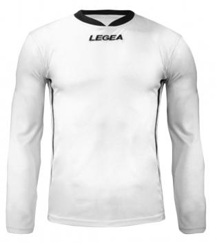 Maglia Uomo Calcio Sport LEGEA Dusseldorf Manica Lunga BOX 10 PEZZI Uomo Bambino GIOSAL-Bianco-Nero-3XS