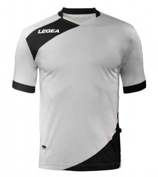 Maglia Uomo Calcio Sport LEGEA Abbigliamento Sportivo Calcistico Uomo Bambino GIOSAL-Bianco-Nero-3XS