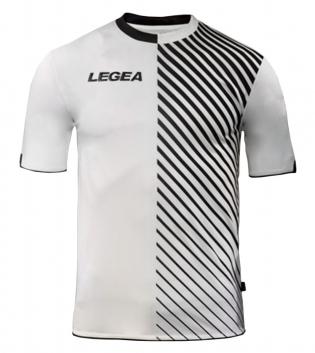 Maglia Uomo Sport LEGEA Calcio Braga Abbigliamento Sportivo Calcistico Uomo Bambino GIOSAL-Bianco-Nero-S
