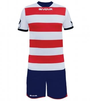 Kit Rugby Calcio Sport GIVOVA Abbigliamento Sportivo Uomo Calcistico GIOSAL-Bianco/Rosso-M