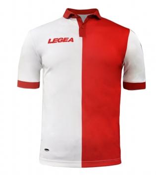 Maglia Uomo Calcio Sport LEGEA Sardegna Gold Uomo Bambino Sportivo GIOSAL-Bianco-Rosso-S