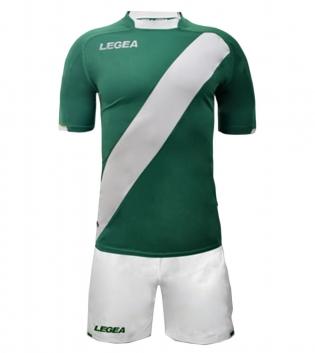Kit Completo Calcio Uomo LEGEA Lima Abbigliamento Sportivo Sport GIOSAL-Verde-Bianco-S