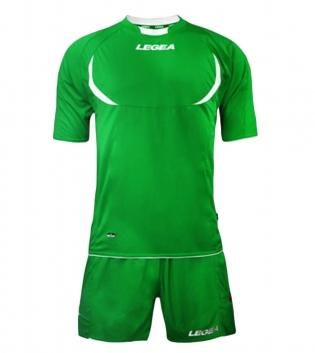 Kit LEGEA Calcio Stoccolma Completo Sportivo Sport Abbigliamento GIOSAL-Verde-Bianco-XS