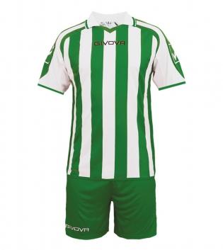 Kit Supporter Calcio Sport GIVOVA Abbigliamento Sportivo Uomo Calcistico GIOSAL-Bianco-Verde-M