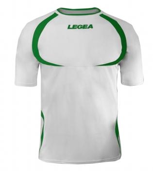 Maglia Uomo Calcio Sport LEGEA Taipei Abbigliamento Uomo Bambino Sportivo Calcistico GIOSAL-Bianco-Verde-3XS