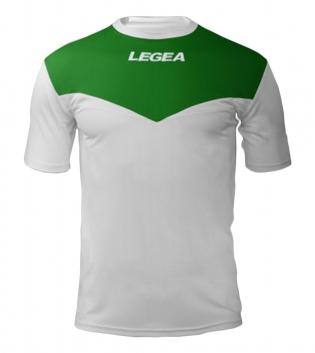 Maglia Sport Calcio Pristina LEGEA Manica Corta Uomo Bambino GIOSAL-Bianco-Verde-3XS