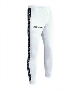 Pantalone Uomo Sport Tuta Tricot Band Uomo Donna Bambino Abbigliamento Sportivo GIOSAL-Bianco-S